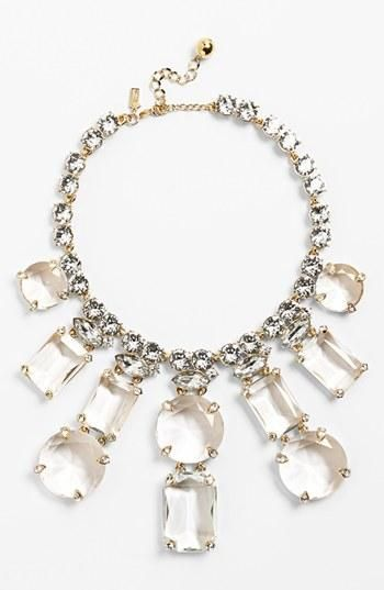 Pretty, oh so pretty. Kate Spade statement necklace.