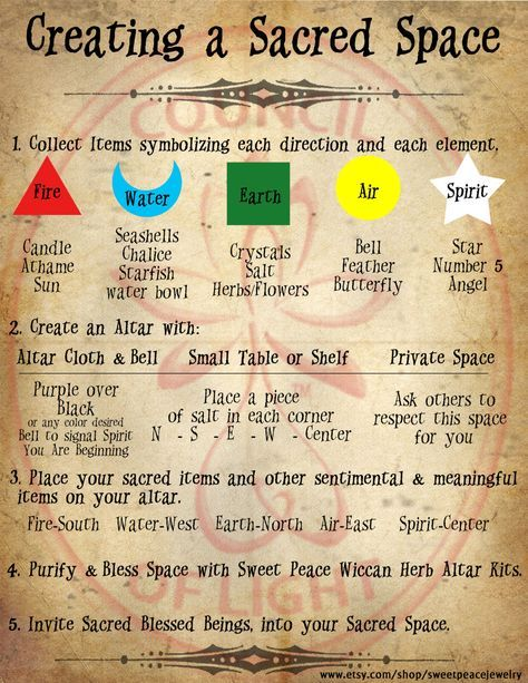 How To Create A Sacred Space Grimoire Pages Instant Download