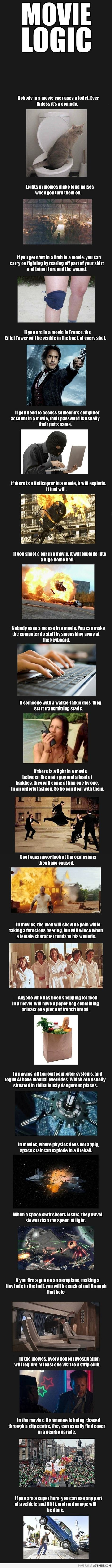 Movie Logic. THIS SAYS IT ALL!! lol