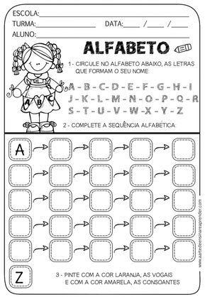 Alfabetizacao Mais De 30 Atividades Para Trabalhar O Alfabeto