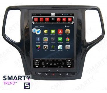 Jeep Grand Cherokee 2013 Tesla Style Android Car Stereo Navigation In Dash Head Unit Jeep Grand Cherokee Android Car Stereo Jeep Grand