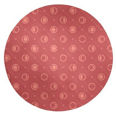 East Urban Home Monochrome Moon Phases Dark Red Light Red Area Rug Rug Size Round 5 Beige Area Rugs White Area Rug Blue Area Rugs