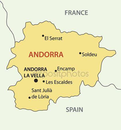 Principado De Andorra Mapa Del Vector Ilustracion De Stock
