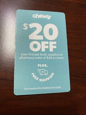 Chewy Com Coupon For 20 Off First Order Of 49 Or More Expires 08 31 20 First Order 20 Off Coupons
