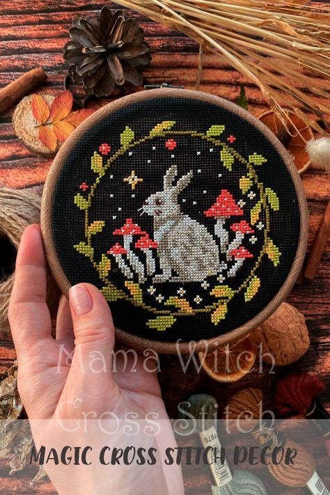 Bunny cross stitch pattern