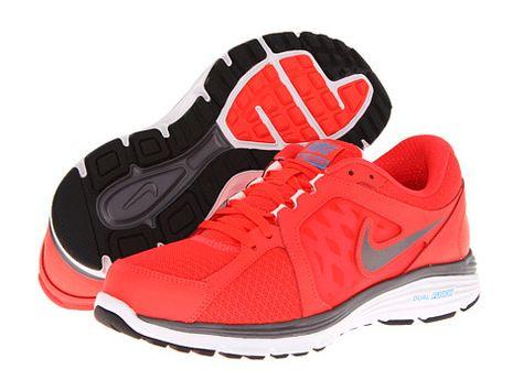 8f6836b262dd Nike Dual Fusion Run Fireberry White Matte Silver Metallic Silver - Zappos.com  Free Shipping BOTH Ways
