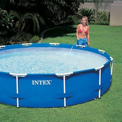 Intex 12 X 30 Metal Frame Pool With Filter Type A Or C Filter Cartridges In 2020 Above Ground Swimming Pools Swimming Pools Pool
