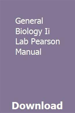 General Biology Ii Lab Pearson Manual General Biology Biology Labs Biology