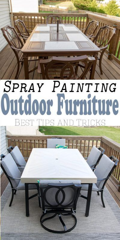 How To Spray Paint Outdoor Furniture, How To Spray Paint Outdoor Metal Furniture