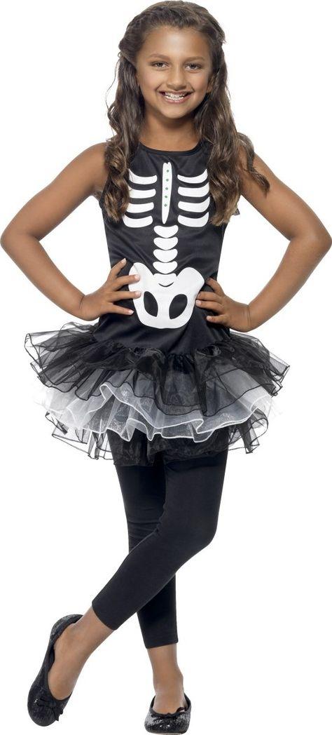 Quatang Gallery- Deguisement Squelette Tutu Noir Fille Halloween Costumes Avec Tutu Robe Costume Et Deguisement Squelette
