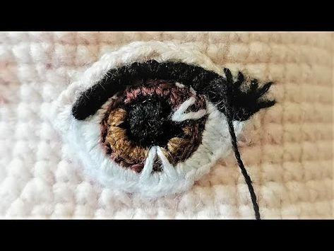 AMİGURUMİ GÖZ YAPIMI- GÜLAY hala DUYGU BEBEK GÖZ YAPILIMI (how to make an amigurumi eye)