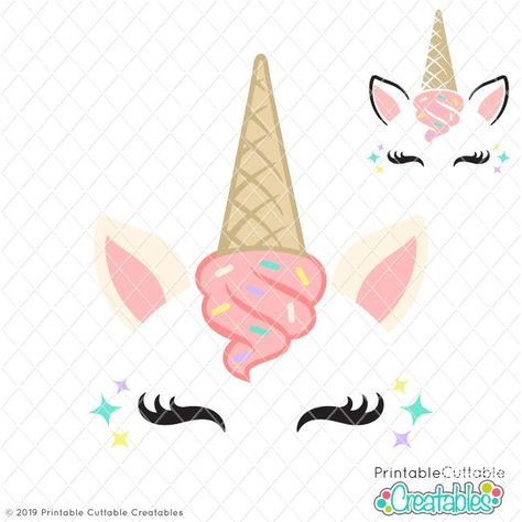 """You searched for """"unicorn face free"""" - Printable Cuttable Creatables"""