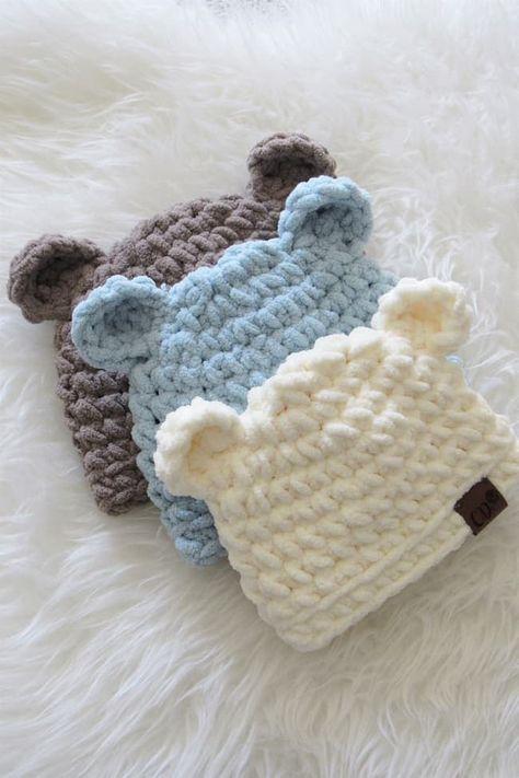 Crochet Baby Hats Free Pattern, Crochet Baby Boy Hat, Crochet Hats For Boys, Baby Hats Knitting, Newborn Crochet Hats, Crocheted Baby Hats, Baby Bonnet Pattern Free, Crochet Baby Clothes Boy, Crochet Butterfly Pattern