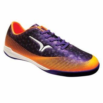 Calci Sepatu Futsal Conquest Purple Orange Dengan Gambar Sepatu