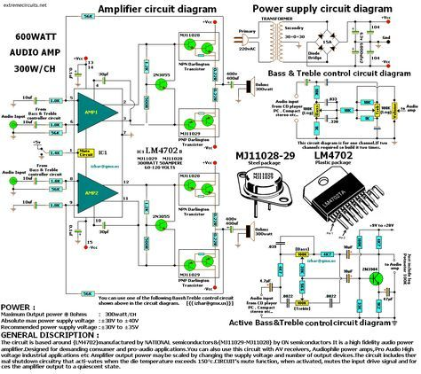 600w Audio Amplifier With Images Audio Amplifier Circuit
