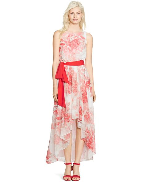 473e20af0b Sleeveless Floral High-Low Maxi Dress | Products | Dresses, Floral ...
