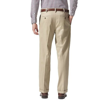 Dockers Mens Relaxed Fit Comfort Khaki Pleated Pants D4