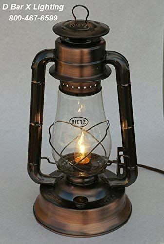 Amazon Com Dx833 15 Cpr 15 Inch Dietz Blizzard Electric Lantern Table Lamp Copper Finish Handmade Lantern Table Lamp Electric Lanterns Copper Finish