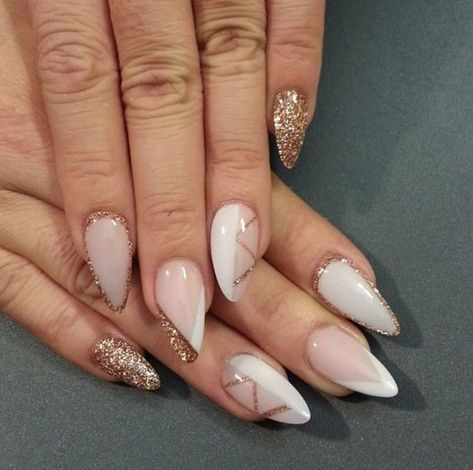 Asymmetric Chic - These NYE Nail Ideas Will Have You Shining Like the Crazy Diamond You Are - Photos