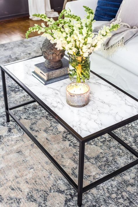Faux Marble Top Coffee Table Coffee Coffeetable Faux Marble