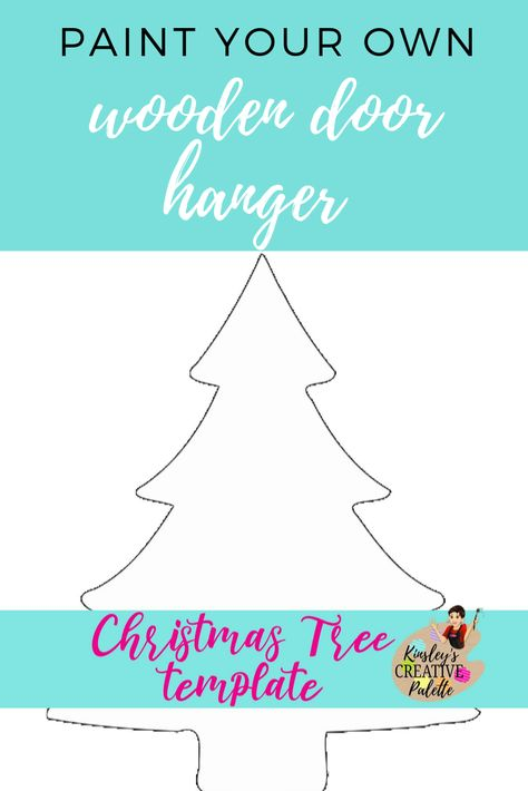 Christmas Tree Door Hanger Template Door Hanger Template