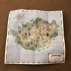 Jumanji Map Welcome To The Jungle Map Replica Jumanji Etsy In 2020 Welcome To The Jungle Map Jungle Theme Parties