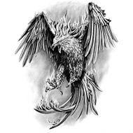 Wzór Tatuażu Feniks Tatoo Angel Tattoo Designs Tattoo
