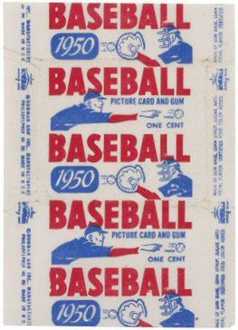 Old Cardboard Vintage Baseball Cards Wrappers Baseball
