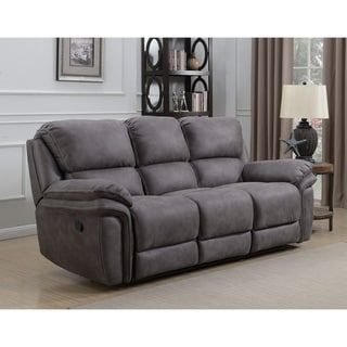 Dylan Dual Power Reclining Sofa With Memory Foam Seat Toppers And Usb Charging Ports Reclining Sofa Power Reclining Sofa Sofa