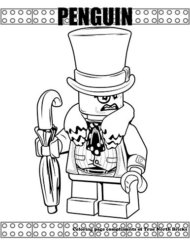 Coloring Page The Penguin True North Bricks Lego Coloring Pages Superhero Coloring Pages Coloring Pages