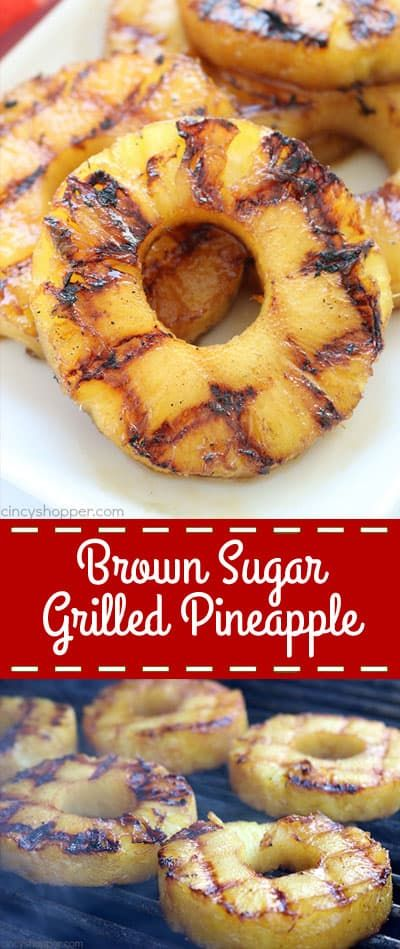 Brown Sugar Grilled Pineapple