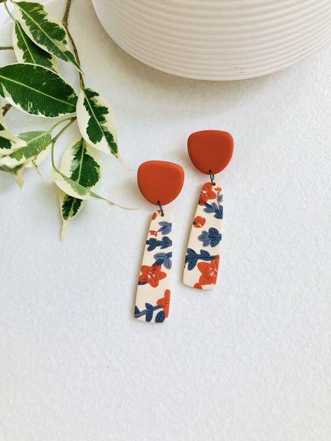 handmade polymer clay earring