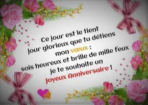 Beaux Textes Pour Souhaiter Un Joyeux Anniversaire Birthday