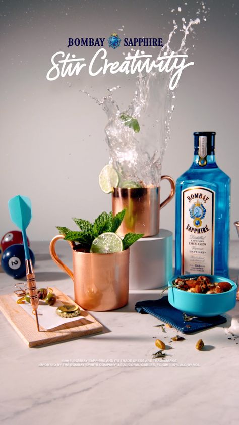 Give happy hour a flavorful kick. #BombayMule. 1 Part BOMBAY SAPPHIRE Gin, ¼ Part Lime Juice, 4 Parts Fever-Tree Ginger Beer