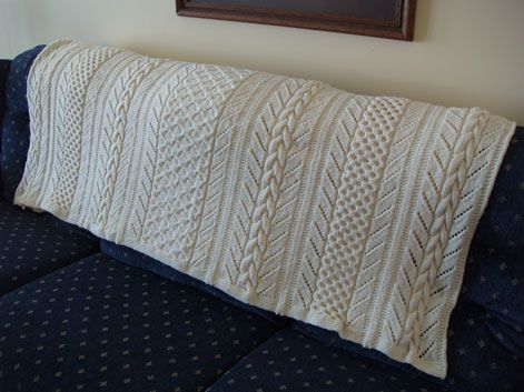 Free Knit Pattern Horseshoe Cable Afghan Free Knit Patterns