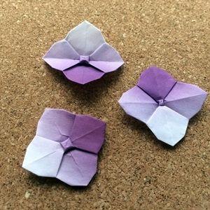 紫陽花 折り紙 立体