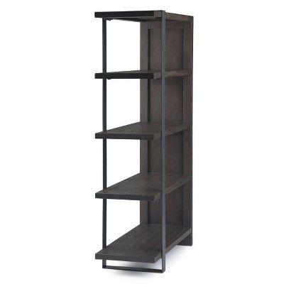 Franz Bookcase Distressed Dark Brown Wyndenhall Bookcase