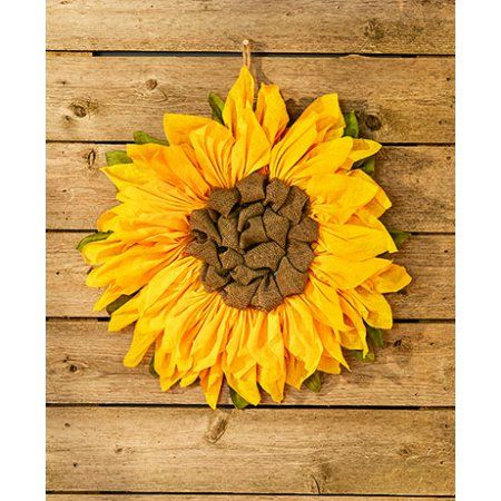 Sunflower Rustic//Primitive Metal Sign