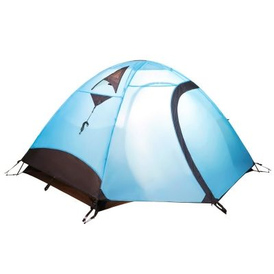 Mobi Garden Anti Uv Double Layer 2 Person 3 Season Dome Tent With Carry Bag Blue In 2020 Tent Dome Tent Blue Bags