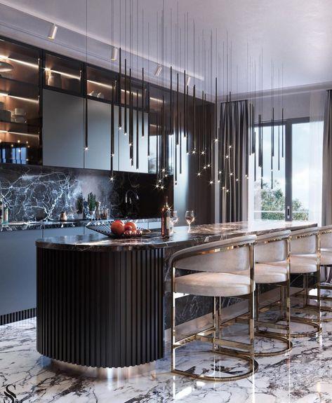 Epingle Par Madiora Sur Cuisine En 2020 Cuisine Design Moderne Design De Cuisine De Luxe Maison D Architecture