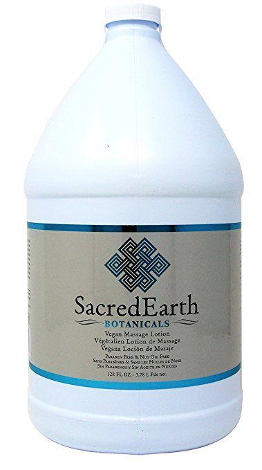 Sacred Earth Botanicals Vegan Massage Lotion 1 Gallon Massage Lotion Lotion Massage