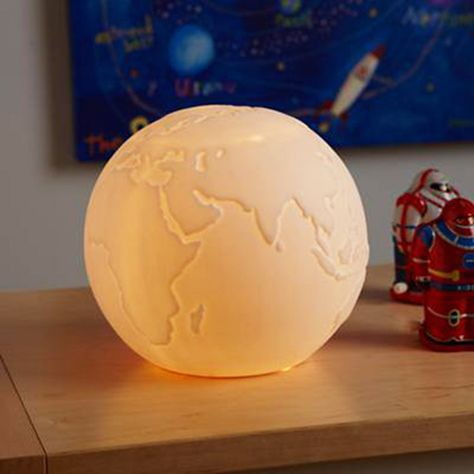 Porcelain Globe Light - this light would look great in a child's bedroom.