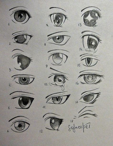 Different ways to draw anime eyes Anime eyes solncedei on deviantart #anime #deviantart #different #solncedei