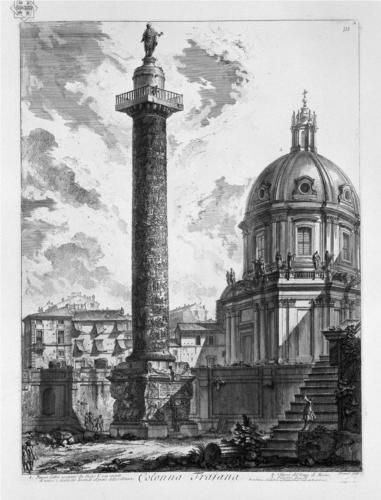 View of the two Churches the one called the Madonna of Loreto, the other the name of Mary at the Trajan column - Giovanni Battista Piranesi