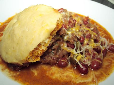 Chili and Dumplings #justapinchrecipes