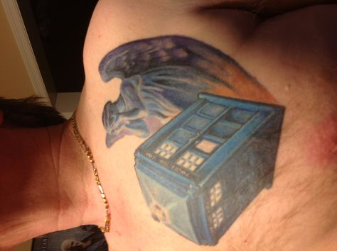 My sexy boyfriends dr who tattoo!!!