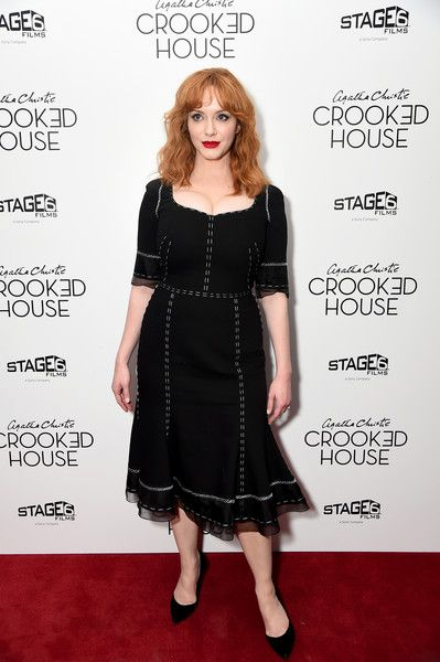Actor Christina Hendricks attends the 'Crooked House' New York Premiere.