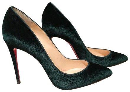 88fe791c944 Green Velvet Pigalle 100mm Verde Pumps   2018   Louboutin shoes ...