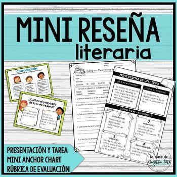 Mini Reseña De Un Libro Spanish Book Review Teacherspayteachers Monopoly Deal Bullet Journal