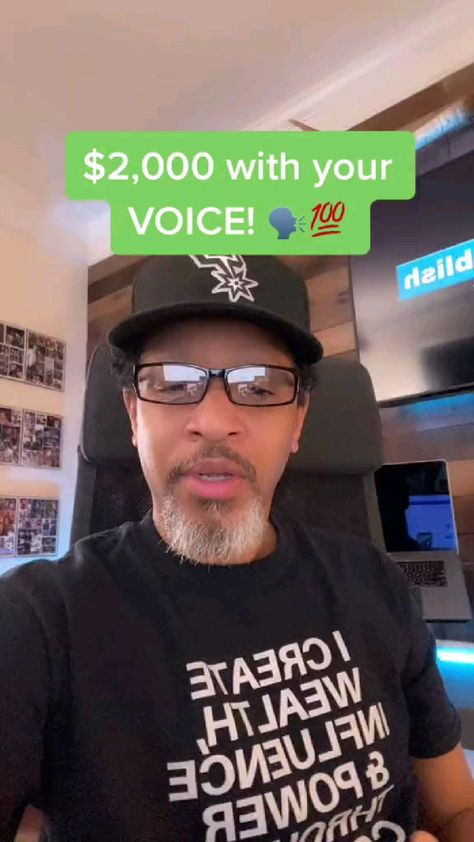$2000/a day with your voice 🤑🤑